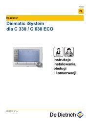 Diematic iSystem dla C 330 / C 630 ECO - De Dietrich