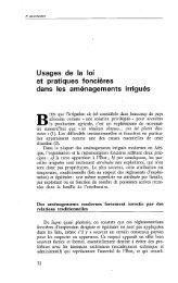 Usages de la loi et pratiques foncières dans les ... - Politique Africaine