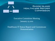 Healthcare IT Status Report and Currentcare Demonstration