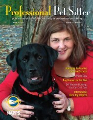Winter 2012-13 - National Association of Professional Pet Sitters