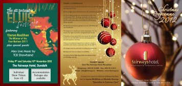 Xmas Brochure Front - Fairways Hotel