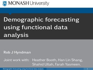 Demographic forecasting using functional data analysis