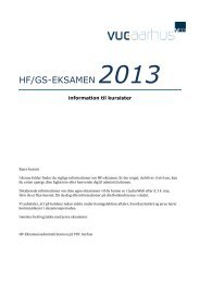 Information til kursister om eksamen - VUC Aarhus