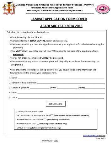 JAMVAT APPLICATION FORM 2014-2015