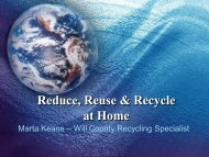 Reduce, Reuse & Recycle at Home - Will County Green