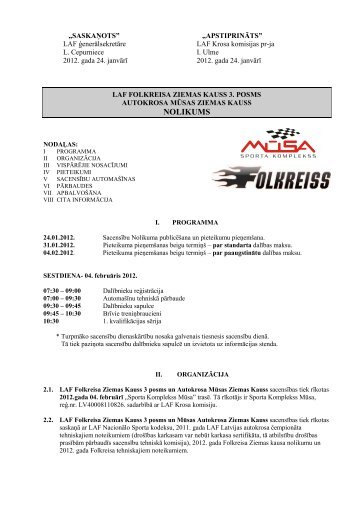supplementary regulations for events of the fia european ...