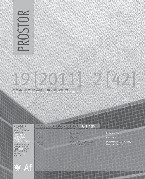 18 In Memo Kronika Doktorati Pdf Arhitektonski Fakultet