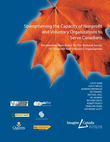Strengthening the Capacity of Nonprofit and ... - Imagine Canada