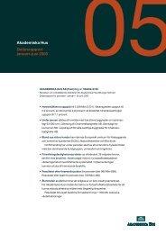 Delårsrapport 2, 2005 - Akademiska Hus