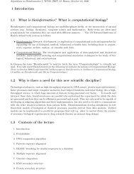 Introduction - Algorithms in Bioinformatics