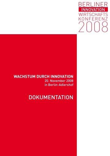 wachstum durch innovation - Berliner Wirtschaftskonferenz