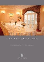 Diamond Package (PDF download) – £92.50 per ... - Beales Hotels