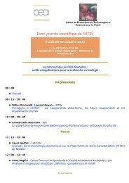 Programme - Direction des sciences du vivant - CEA