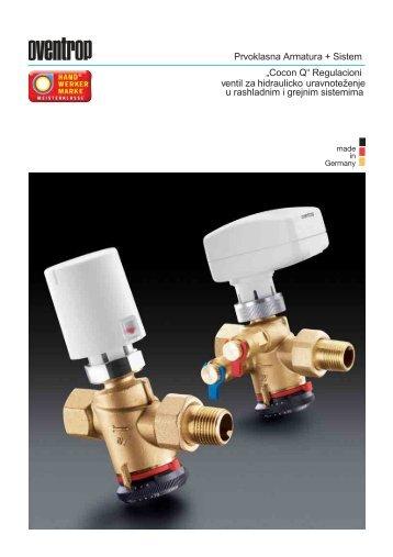 "Prvoklasna Armatura + Sistem ""Cocon Q"" Regulacioni ventil za ..."