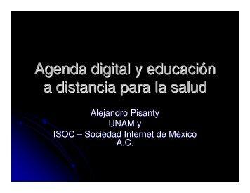 Agenda digital y educación a distancia para la salud - Edumed IMSS