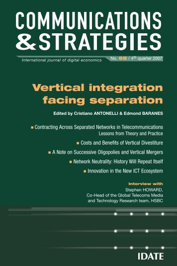 Costs and benefits of vertical separation - Idate