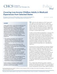 Covering Low-Income Childless Adults in Medicaid - Center for ...