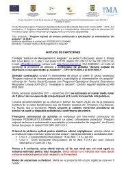 12.1 - servicii postale - invitatie - Institutul de Management in Asigurari