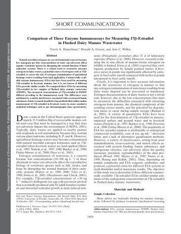 Comparison of three enzyme immunoassays for measuring 17beta ...
