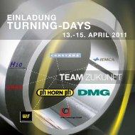 EINLADUNG TURNING-DAYS 13.-15. APRIL ... - hpmtechnologie.de