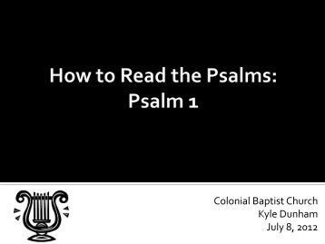 Psalm 1 - Colonial Baptist Church