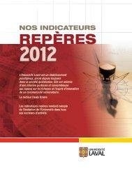 Indicateurs repères 2012 - Université Laval