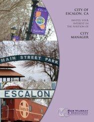 City Of ESCALON, CA - Bob Murray & Associates