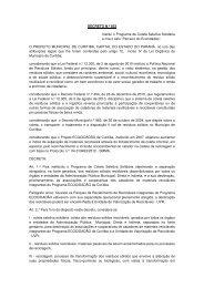 DECRETO N.º 833 Institui o Programa de Coleta Seletiva Solidária ...