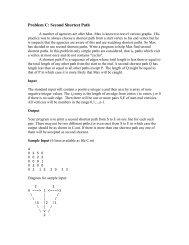 Problem C: Second Shortest Path
