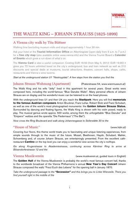 THE WALTZ KING – JOHANN STRAUSS (1825-1899)