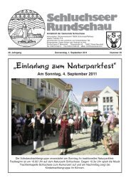 Beratung - Gemeinde Schluchsee