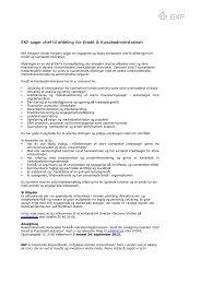 EKF søger chef til afdeling for Kredit & Kundeadministration