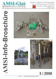 Info-Broschüre 3/2008 - AMSI Glas AG, Glasapparate, Labor