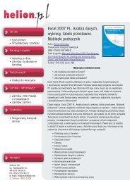 Excel 2007 PL. Analiza danych, wykresy, tabele przestawne - Structum