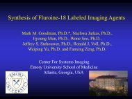 Synthesis of Fluorine-18 Labeled Imaging Agents