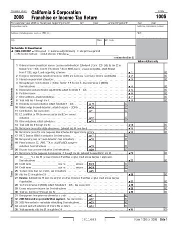California Form 100s Instructions Juveique27