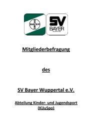 Den Fragebogen zum Downloaden finden sie hier! - SV Bayer ...