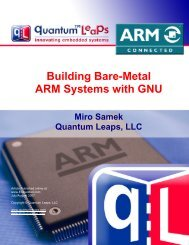 Building bare-metal arm systems with gnu - state - Quantum Leaps