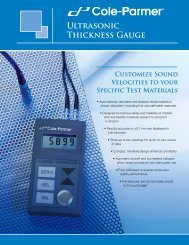 Ultrasonic Thickness Gauge Brochure(358KB) - Cole-Parmer