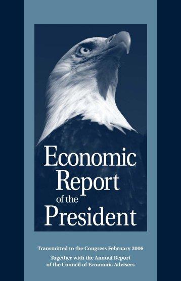 2006 Economic Report of the President - Economics