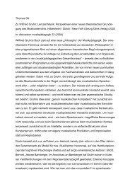 Thomas Ott Zu Wilfried Gruhn: Lernziel Musik. Perspektiven einer ...