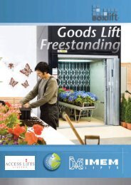 Download Goods lifts up to 2000kg brochure - Access Lifts Limited