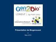 Biogenouest, le réseau des plates-formes du Grand Ouest en ...