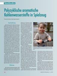 Polyzyklische aromatische Kohlenwasserstoffe in Spielzeug