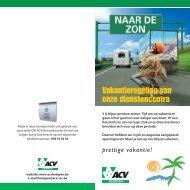 Vakantieregeling van onze dienstencentra - ACV Kempen