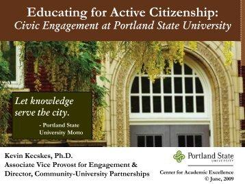 Portland State University-Case Study