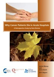 Why Cancer Patients Die in Acute Hospitals - Queen's University ...