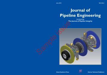 Journal of Pipeline Engineering - Pipes & Pipelines International ...