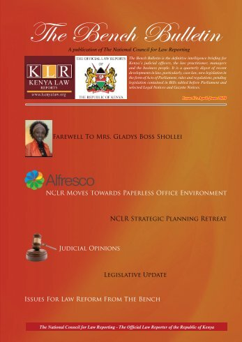 Bench Bulletin - Issue 12 - Kenya Law Reports