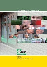 JAARVERSLAG 2009-2010 - ACV Kempen